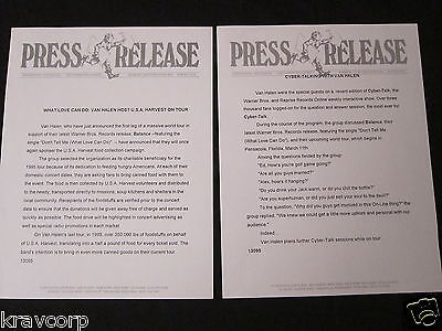 Van Halen—two 1995 Press Releases • 18.88£