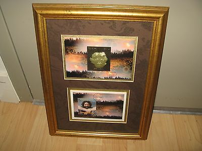 Jerry Garcia Tanzania Stamps - Limited Edition Framed 1996 Artwork Grateful Dead • 1,072.88£