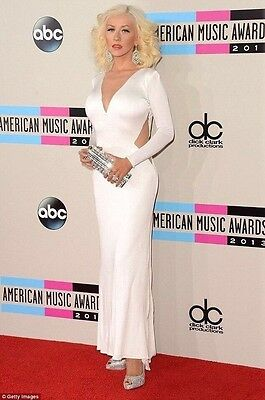 Size 4 Christina Aguilera 2013 AMA Awards Maria Lucia Hohan Replica Dress • 1,588.06£