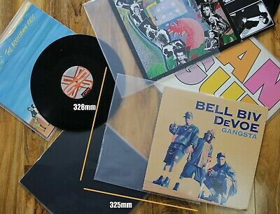 25 12  Inch Vinyl Record Album LP 450 G Gauge Plastic Sleeves Fits Triple 3 LP • 6.75£
