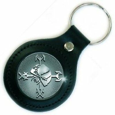 Iron Maiden Final Frontier Icon Leather Metal Keychain Keyring Fan Gift Official • 6.95£