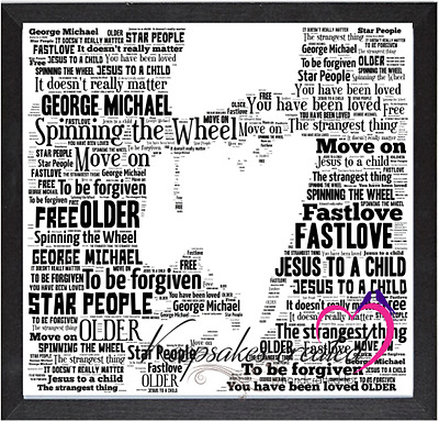 George Michael Older Tribute Word Art Keepsake/Gift/Memorabilia Freepost • 20£