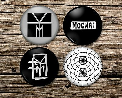 MOGWAI Badge Magnet Keyring Mirror Set Of 4 Or Single Young Team Rave Tapes, Pin • 6.50£