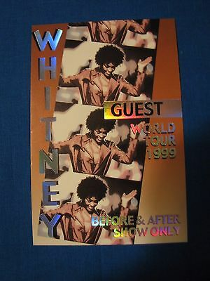 Whitney 1999 World Tour Guest Backstage Pass Unused • 15.45£