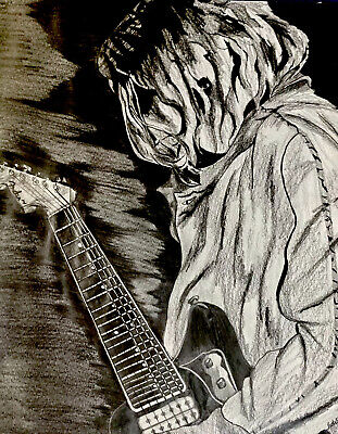 Cobain Nirvana Mysterious Abstract Original Of 1  Drawing Unknown Artist!!! • 33.76£