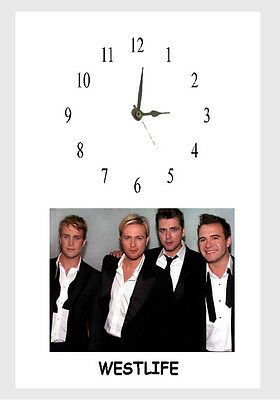 WESTLIFE  A4 Frame CLOCK Personalised Free  • 15.20£