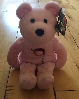 Beanie Baby Bear Limited Edition Christina Aguilera Pink 9  Teddy • 11.25£
