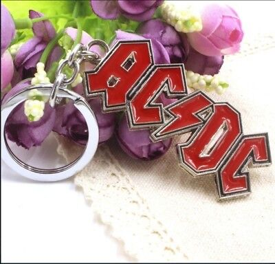 AC/DC Metal Keyring Brand New And Sealed • 4£