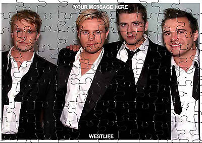 WESTLIFE  JIGSAW PUZZLE A4 120 PIECE PERSONALISED  Free PP • 6.99£