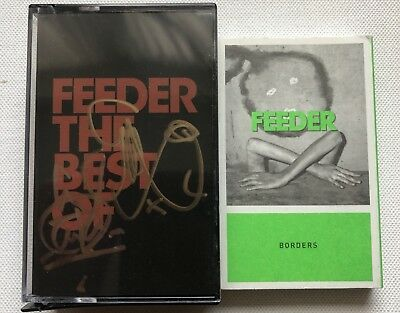 Feeder - The Best Of Hand Signed Double Rare Cassette Autographed + Borders Tape • 19.69£