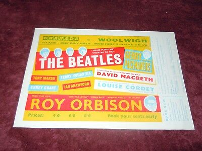 The Beatles Authentic Complete Rare 1963 Woolwich Handbill Immaculate! 20% Off • 2,162.33£