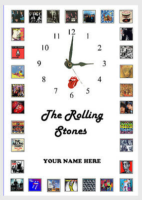 The Rolling Stones  Album Wall Clock  Great Gift Personalised Free Postage • 15.20£