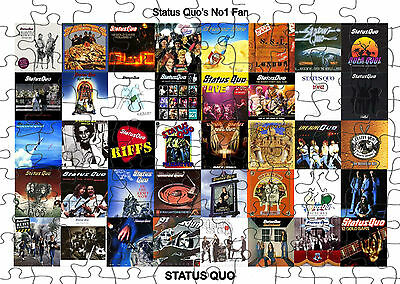 STATUS QUO  JIGSAW PUZZLE A4 120 PIECE Great Gift Idea  Free Postage • 6.99£