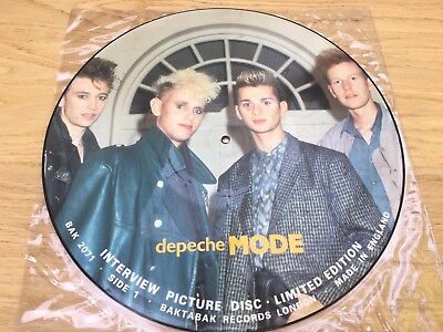 Limited Edition Depeche Mode Interview Picture Disc LP • 19.99£
