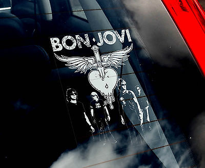 Bon Jovi - Car Window Sticker - American Rock Music Sign Art Gift Novelty • 3.65£