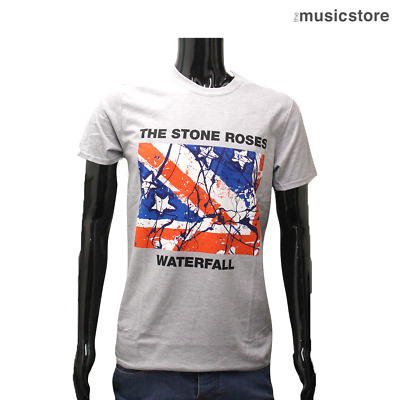 THE STONE ROSES Official T Shirt Waterfall Ian Brown Grey Band New S M L XL XXL • 16.99£