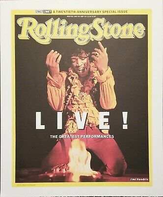 Rolling Stone Magazine Issue # 501 – Jimi Hendrix Authentic Lithographic Print • 55.22£