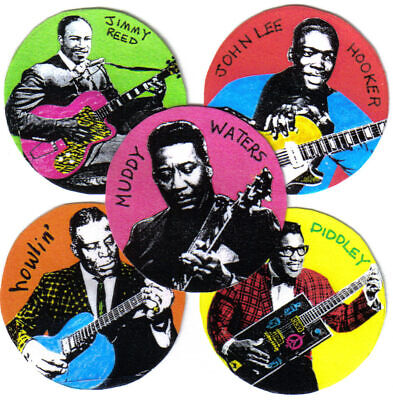 BLUES. 5 STICKERS. Bo Diddley, Muddy Waters, Howlin' Wolf, John Lee Hooker. • 4.99£