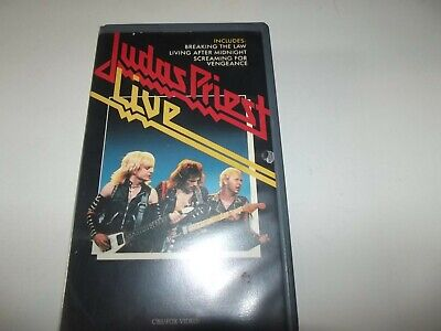 4 X Judas Priest Vhs Tapes (see Description For List) • 20£