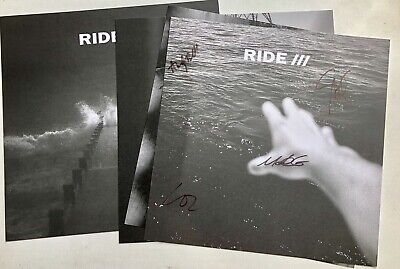 RIDE This Is Not A Safe Place Limited Ed Set Of 4 Signed Prints Autographed • 24.99£