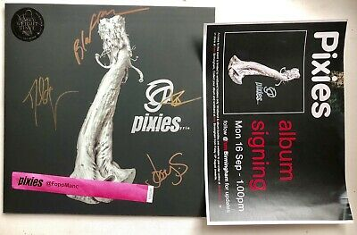 PIXIES - BENEATH THE EYRIE SIGNED  RECORD LP AUTOGRAPHED + Wristband • 119.99£
