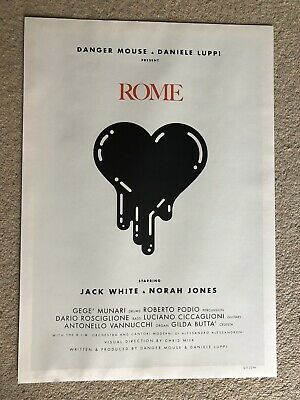 Rome - Danger Mouse Jack White Norah Jones Ltd Ed Numbered Print • 39.99£