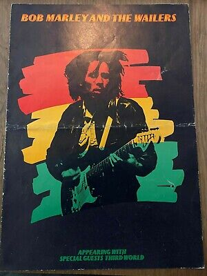 Tour Programme Bob Marley & The Wailers 1975 Natty Dread UK Tour Third World • 125£