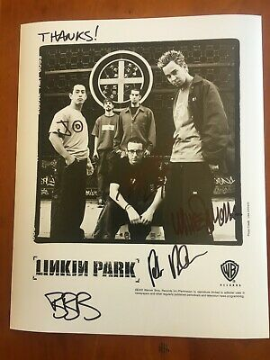Linkin Park    Signed 8 X 10 Photo .  Guaranteed Authentic • 214.92£