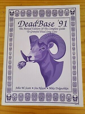 DeadBase 1991, The Complete Guide To Grateful Dead Song Lists, Signed & Numbered • 15.80£
