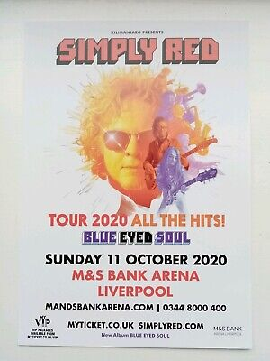 Simply Red Blue Eyed Soul 2020 Liverpool Arena Large Flyer NEW Mick Hucknall.  • 3.99£