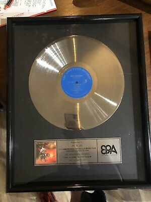 """Jake E. Lee Record Award For 1,000,000 Album Sales Of """"The Ultimate Sin"""" • 787.12£"""
