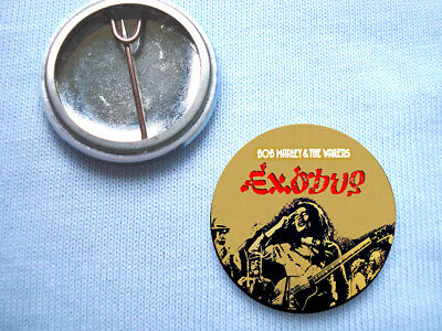 Bob Marley 25mm Exodus Badge Reggae The Wailers  • 0.99£