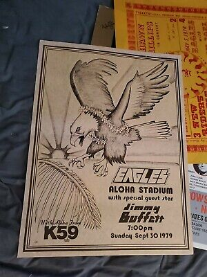 The Eagles Henley Frey Jimmy Buffett Very Rare First Printing Concert Poster  • 921.95£