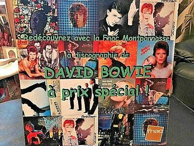 Rare French DAVID BOWIE LP Record Store Counter Display, Various BOWIE LP Covers • 22.19£