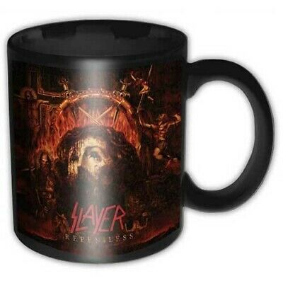Slayer Official Repentless Black Ceramic Mug Cup Tea Coffee Boxed Band Fan Metal • 8.45£