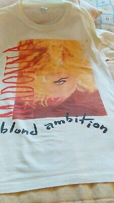 Madonna Vintage-   T Shirt From The-  Blonde Ambition Tour 1990 - Rare  Size L • 105£