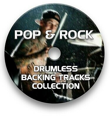 Classic Pop & Rock Mp3 Rock Drumless Drums Backing Tracks Collection On Cd • 5.99£