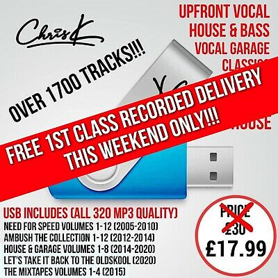 Full Bassline / Garage / House Collection, Dj Chris K, 16gb Usb • 19.99£