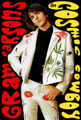 GRAM PARSONS POSTER. Size Large-A2. Byrds. • 10.99£