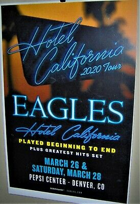The EAGLES In Concert Advance Show Poster Denver Co March 26th 28th 2020 COOL • 17.44£