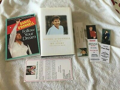 SIGNED DANIEL O'DONNELL Two Books And Signed Bookmark And 3 Bookmarks • 99.95£