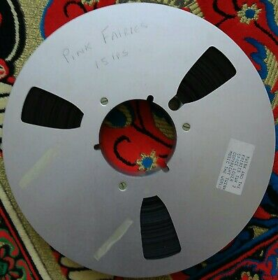 THE PINK FAIRIES - 1  (inch) SPOOL & TAPE FROM COMMAND STUDIOS 1971 • 250£