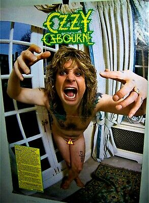 OZZY OSBOURNE Nude Centerfold Poster Shot In The Dark Very COOL • 14.73£