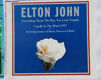 Elton John Candle In The Wind In Memory Of Lady Diana Signed Single Cover  • 200£