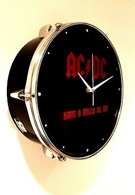 ACDC - Upcycled Drum Clock  • 49.99£