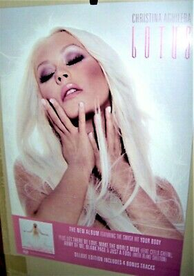CHRISTINA AGUILERA  LOTUS Original 2012 Original Double SidedPromo Display Card  • 27.79£