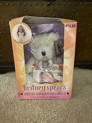 Britney Spears Official Teddy Bear CD Button Pin Bonus 2000 Oops Vtg Collectible • 45.02£