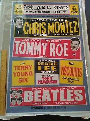 Beatles - ABC Northampton 27 March '63 - Limited Reprint Poster • 20£
