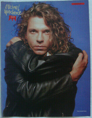 MICHAEL HUTCHENCE (INXS) Original 1980's - UK Magazine Poster! - 28cm X 21.5cm • 5.95£