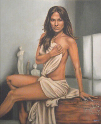 Jennifer Lopez Original Painting, AUTOGRAPHED By J.Lo - With VIDEO PROOF • 2,900£